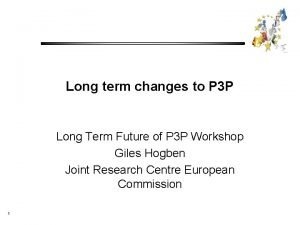 Long term changes to P 3 P Long
