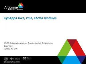 syn Apps love vme ebrick modules EPICS Collaboration