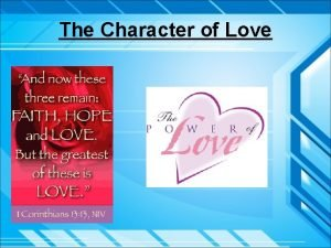 The Character of Love Introduction Eros Sexual love