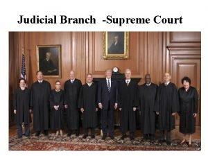 Judicial Branch Supreme Court Judicial Branch Article III