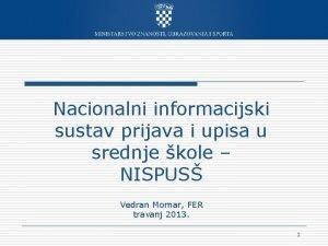 Nacionalni informacijski sustav prijava i upisa u srednje