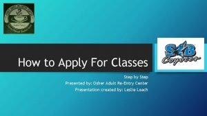 How to Apply For Classes Step by Step