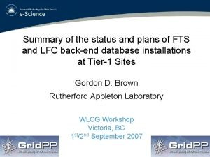 Summary of the status and plans of FTS