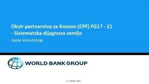 Okvir partnerstva za Kosovo CPF FG 17 21