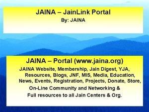 JAINA Jain Link Portal By JAINA Portal www