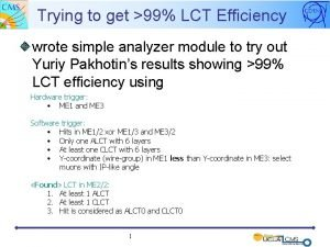 Trying to get 99 LCT Efficiency wrote simple