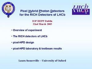 Pixel Hybrid Photon Detectors for the RICH Detectors