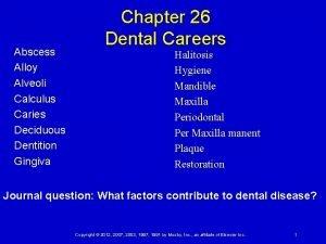 Abscess Alloy Alveoli Calculus Caries Deciduous Dentition Gingiva