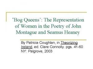 Bog Queens The Representation of Women in the