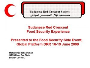 Sudanese Red Crescent Society Sudanese Red Crescent Food
