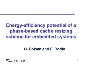 Energyefficiency potential of a phasebased cache resizing scheme