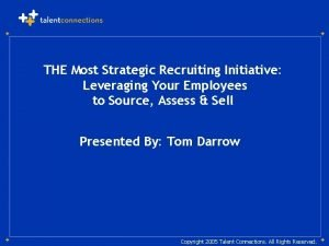 THE Most Strategic Recruiting Initiative Leveraging Your Employees