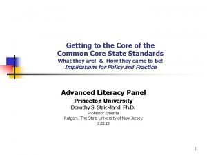 Getting to the Core of the Common Core