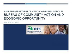 MICHIGAN DEPARTMENT OF HEALTH AND HUMAN SERVICES BUREAU