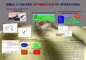SIMULATION AND OPTIMIZATION OF OPERATIONS aircraft trajectory optimization