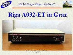 RIGA Event Timer A 032 ET Riga A