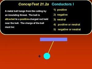 Concep Test 21 2 a Conductors I A