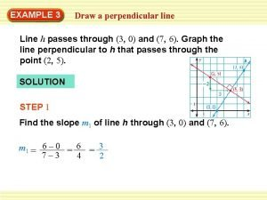 EXAMPLE 3 Draw a perpendicular line Line h