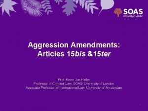 Aggression Amendments Articles 15 bis 15 ter Prof