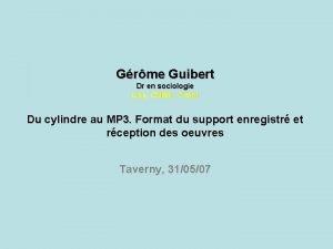 Grme Guibert Dr en sociologie Lise CNRS Cnam