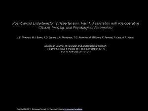 PostCarotid Endarterectomy Hypertension Part 1 Association with Preoperative