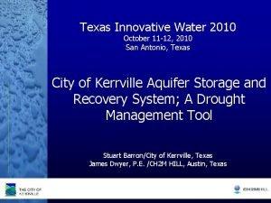 Texas Innovative Water 2010 October 11 12 2010