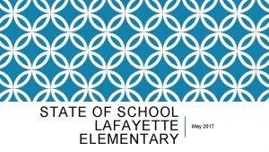STATE OF SCHOOL LAFAYETTE ELEMENTARY May 2017 ENGLISH