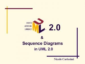 in UML 2 0 Nicol Carissimi Summary whats