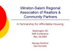 WinstonSalem Regional Association of Realtors Community Partners A