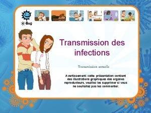 Transmission des infections Transmission sexuelle Avertissement cette prsentation