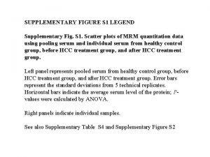 SUPPLEMENTARY FIGURE S 1 LEGEND Supplementary Fig S