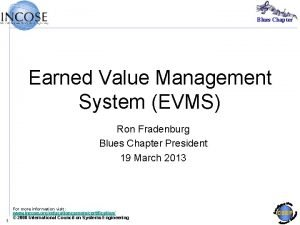 Blues Chapter Earned Value Management System EVMS Ron
