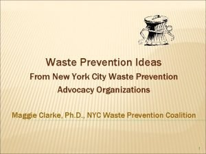 Waste Prevention Ideas From New York City Waste