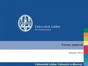 Konso passive Maarten Mous Passive derivation am The