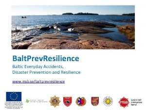 Balt Prev Resilience Baltic Everyday Accidents Disaster Prevention