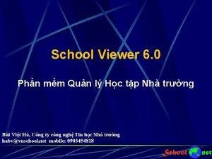 School Viewer 6 0 Phn mm Qun l
