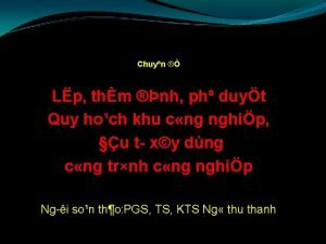 Chuyn Lp thm nh ph duyt Quy hoch
