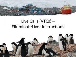Live Calls VTCs Elluminate Live Instructions Blackboard Collaborate
