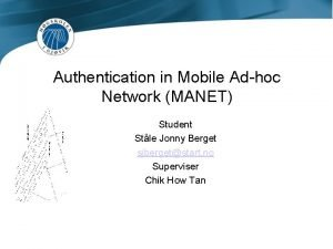 Authentication in Mobile Adhoc Network MANET Student Stle