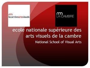 ecole nationale suprieure des arts visuels de la