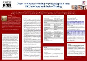 From newborn screening to preconception care PKU mothers