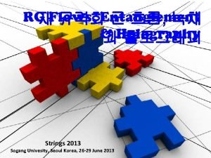 RG Flows Entanglement Holography Strings 2013 Sogang Univesity