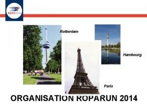Rotterdam Hambourg Paris ORGANISATION ROPARUN 2014 1 ORGANISATION