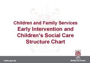 Children and Family Services Early Intervention and Childrens