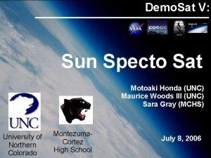 Demo Sat V Sun Specto Sat Motoaki Honda