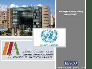 Challenges of ePublishing in Arab World Ali Abdallah