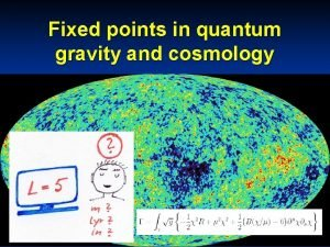 Fixed points in quantum gravity and cosmology quantum