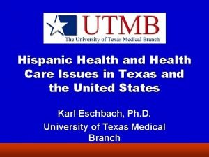 Hispanic Health and Health Care Issues in Texas
