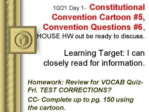 Constitutional Convention Cartoon 5 Convention Questions 6 1021