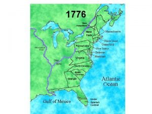 1776 Document Time line 1607 Document Time line